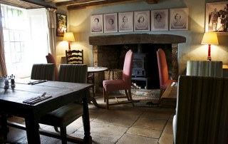 The Swan Inn Swinbrook Dining Room