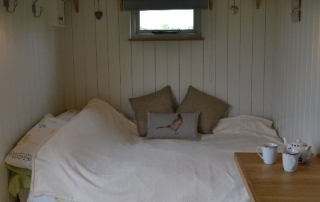 Manor Farm Shepherds Hut bedroom