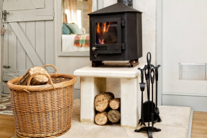 August Farmhouse Garden Cabin Cosy Woodburner