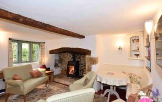 Cosy Corner Cottage, Evenlode, Living Room